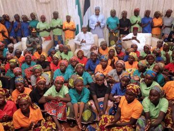 Algunas de las niñas de Boko Haram liberadas