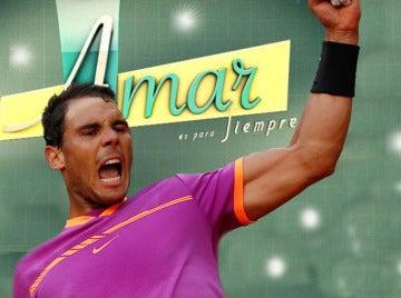 Los actores de 'Amar es para siempre' disfrutan de la victoria de Rafa Nadal en Mutua Madrid Open