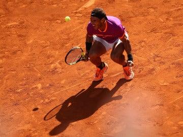 Rafa Nadal celebra su victoria ante Djokovic