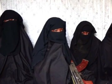 Varias de las niñas de Chibok