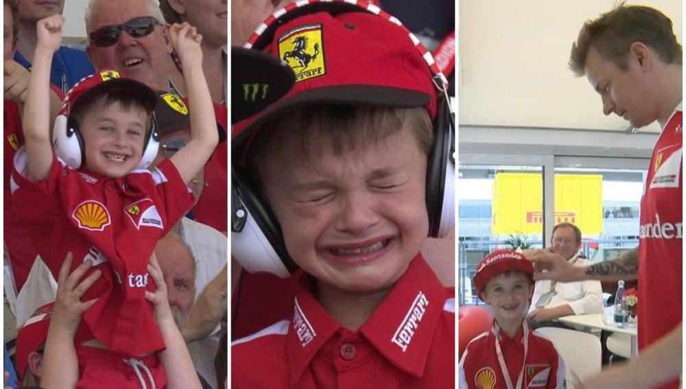 En niño fan de Ferrari, protagonista del GP de España