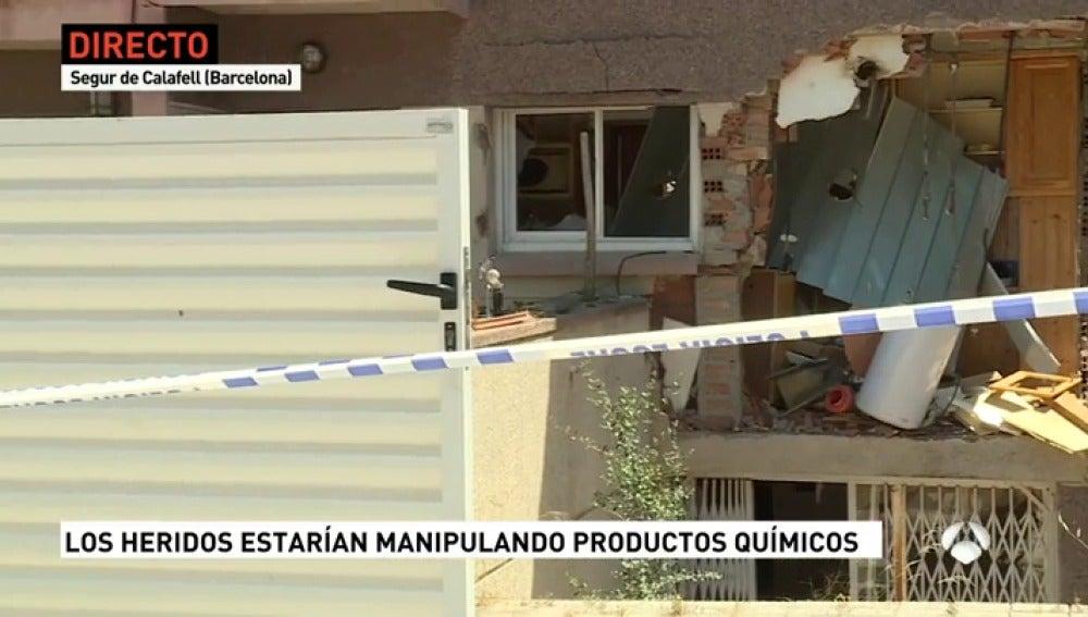 Explosión en una casa