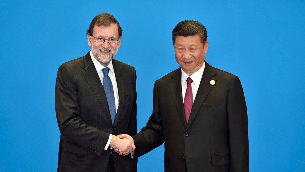 Mariano Rajoy durante su gira en China