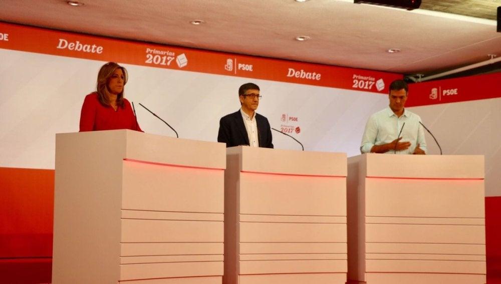 Debate entre los candidatos a las primarias del PSOE