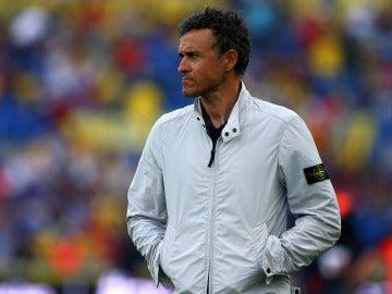 Luis Enrique, en el Estadio de Gran Canaria