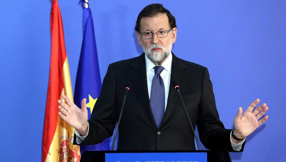 Mariano Rajoy durante una rueda de prensa en China