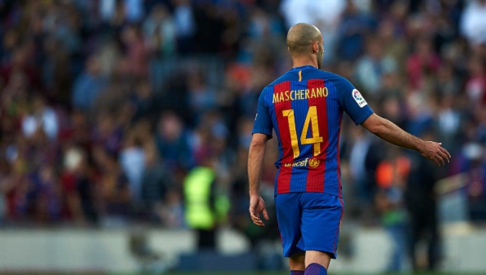 Mascherano, en un partido con el FC Barcelona