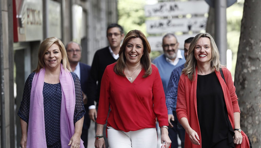 LLegada de Susana Díaz a Ferraz