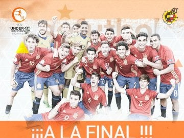 España, a la final del Europeo sub-17