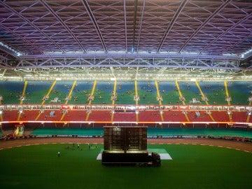 Vista general del estadio de Cardiff donde se disputa la final