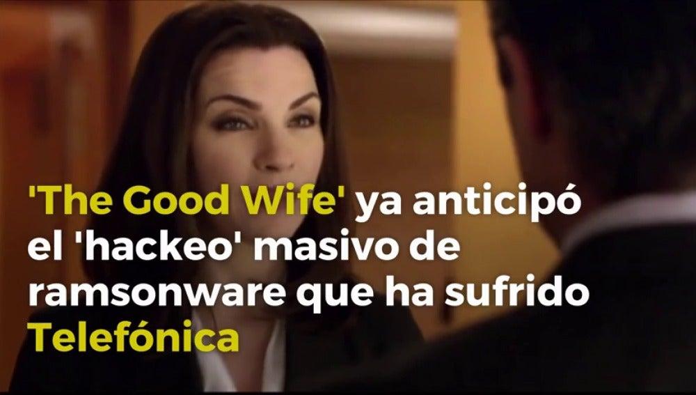 Frame 1.099028 de: 'The Good Wife' ya sufrió un 'hackeo' de ransomware como el de Telefónica