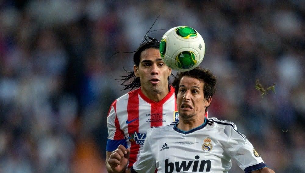 Falcao y Coentrao, en un partido de 2013