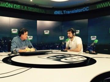 Sergio Llull con De la Morena en El Transistor.