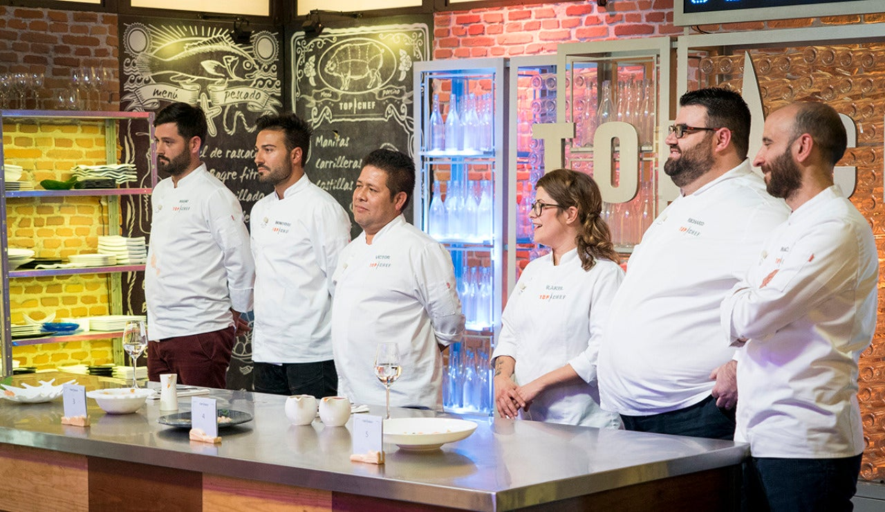 Richard, Marcano, Manu y Montoro, pinches de lujo de Rakel y Víctor en la final de 'Top Chef'