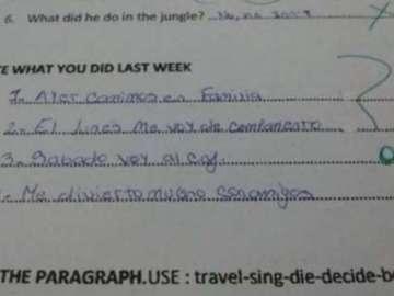 Captura de la respuesta equivocada de la alumna