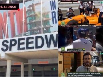 Día a día de Alonso en Indianápolis