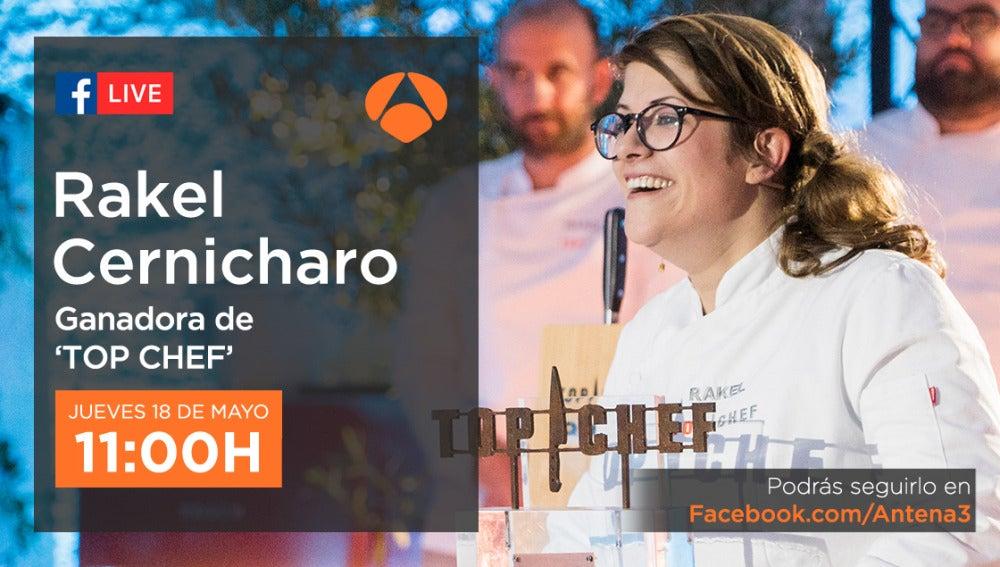Rakel Cernicharo estará en directo a través de Facebook Live respondiendo a las preguntas de los seguidores