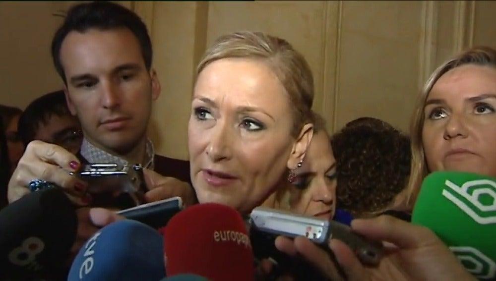 Frame 13.837485 de: Cristina Cifuentes comparecerá el 2 de junio en comisión de investigación de la Asamblea de Madrid