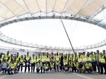 El Atlético de Madrid visita el Wanda Metropolitano