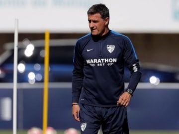 Míchel, técnico del Málaga