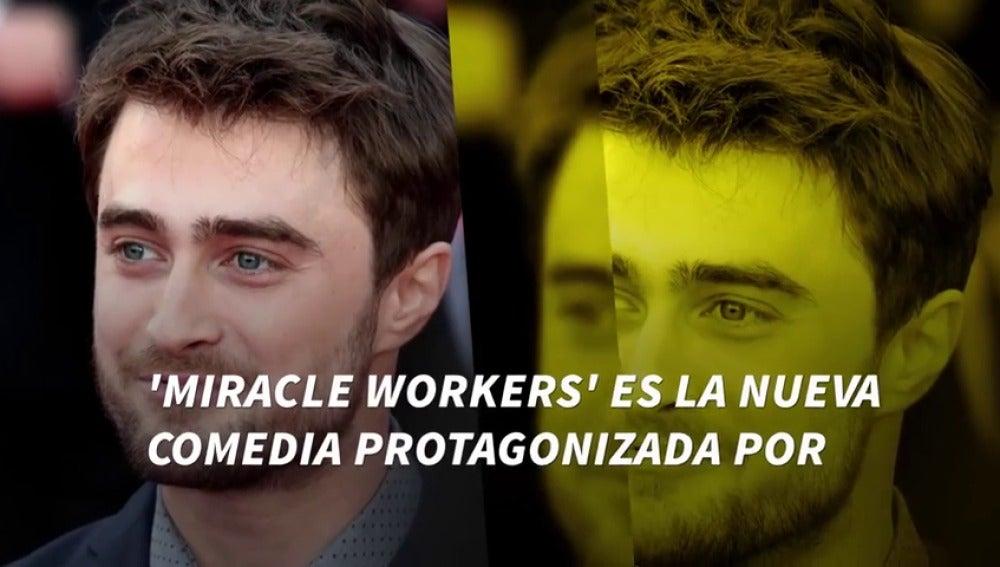Frame 2.850781 de: De mago a ángel, Daniel Radcliffe salta a la televisión con 'Miracle Workers'