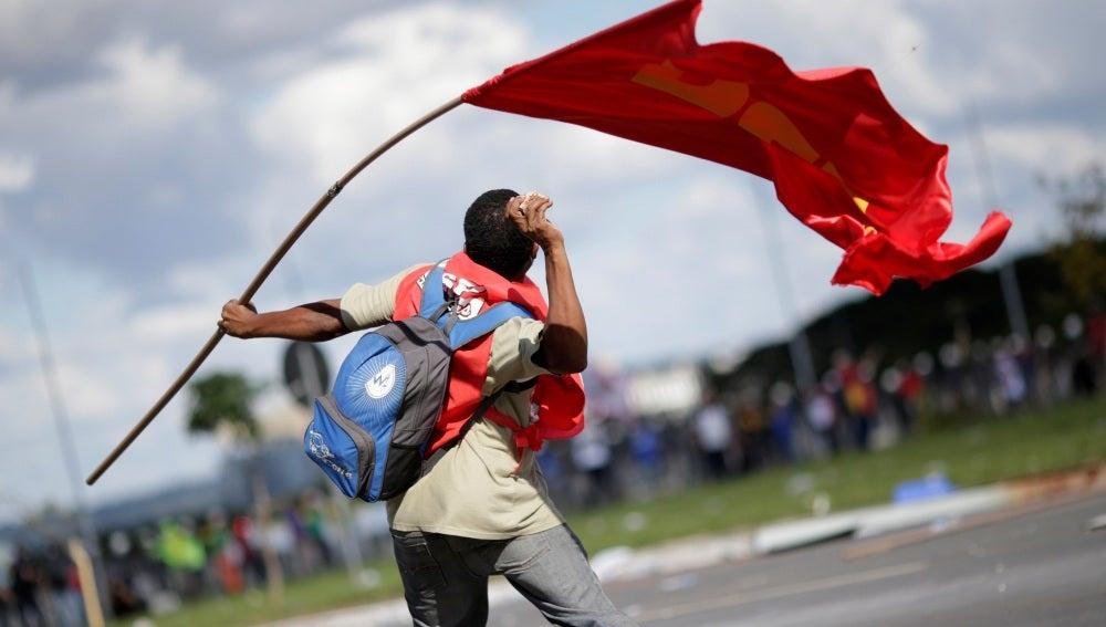 Protestas en Brasil contra Michel Temer