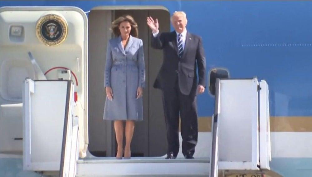 Frame 12.416745 de: Trump, en Bruselas para participar en la cumbre de la OTAN
