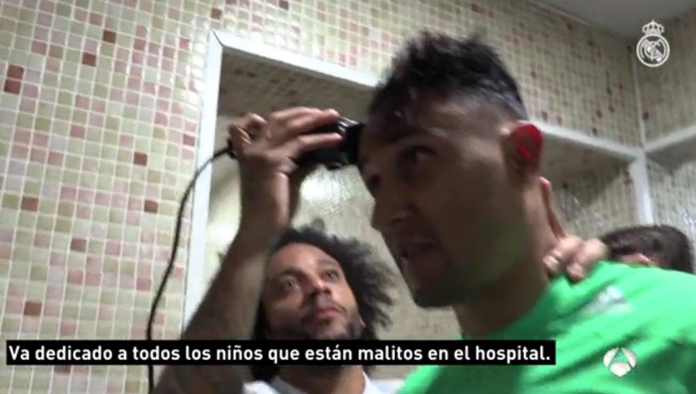 Keylor Navas, rapado por Marcelo en La Rosaleda