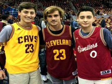 Griezmann, en la pista de Cleveland Cavaliers