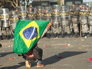 Manifestaciones en Brasil tras la crisis política desatada en el país