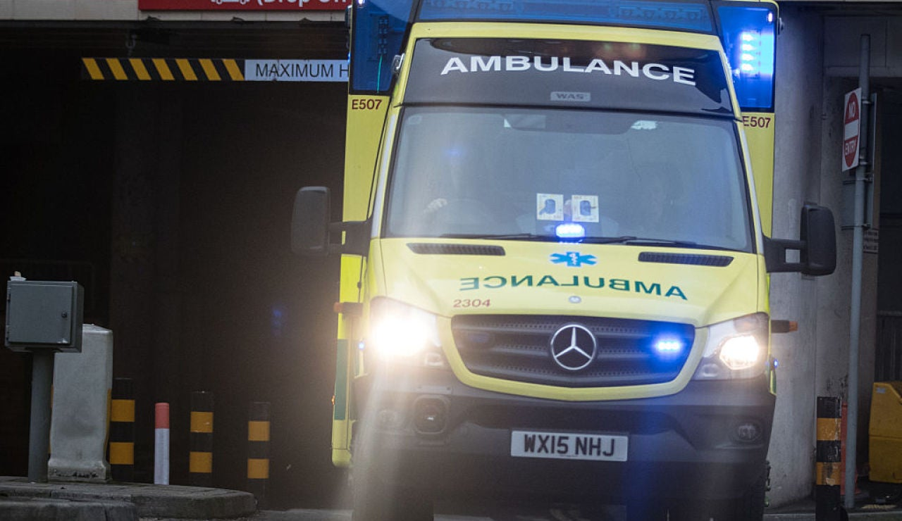 Una ambulancia de Reino Unido