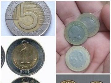Monedas similares a las de 1 euro