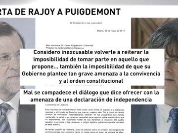 Frame 11.183074 de: Rajoy contesta por carta a Puigdemont que es imposible negociar un referéndum secesionista