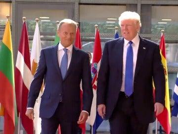 Frame 18.336113 de: Bruselas se blinda ante la llegada de Donald Trump para participar en la cumbre de la OTAN