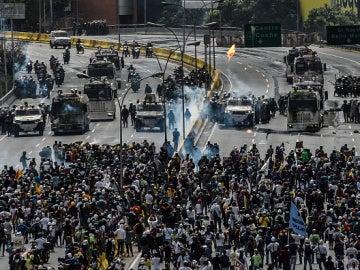 Una protesta en Venezuela