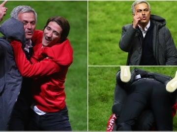 José Mourinho, eufórico tras ganar la Europa League