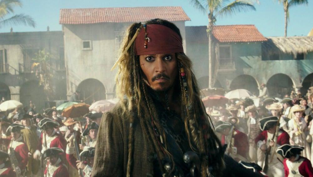 Jack Sparrow en 'Piratas del Caribe: La venganza de Salazar'