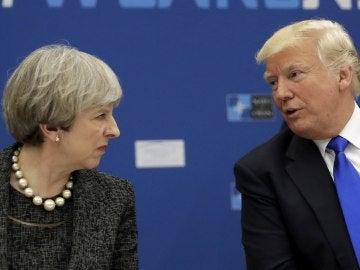 Theresa May, primera ministra de Reino Unido, y Donald Trump, presidente de EEUU