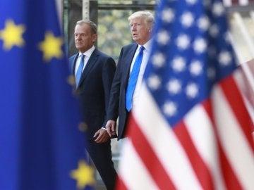 La primera reunión entre Trump y la UE, marcada por el desencuentro sobre Rusia y comercio
