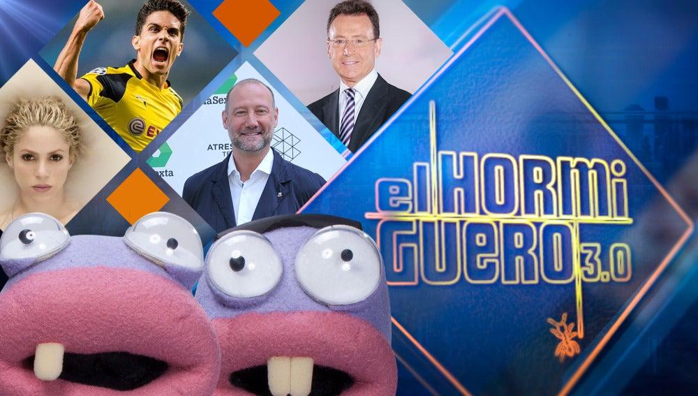 Shakira, Marc Bartra, Pedro García Aguado y Matías Prats visitarán la próxima semana 'El Hormiguero 3.0'