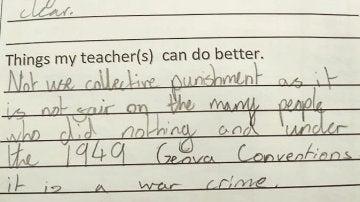 La respuesta de una niña sobre qué debe mejorar su profesora