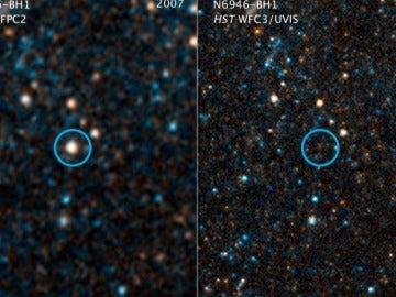 Una estrella en colapso renace como agujero negro