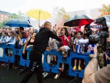 Despedida a los jugadores del Alavés en Vitoria
