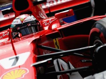 Kimi Raikkonen, rodando en el trazado de Mónaco