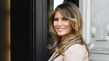 Melania Trump, muy sonriente