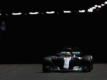 Lewis Hamilton, en la clasificación del GP de Mónaco