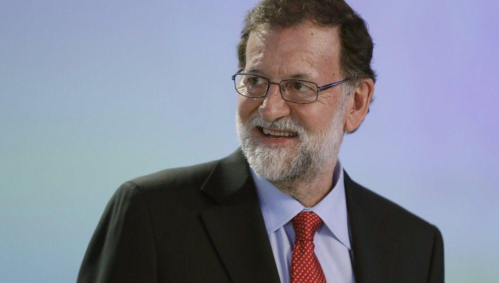 El presidente del Gobierno, Mariano Rajoy, durante la clausura de la XXXIII Reunión del Círculo de Economía