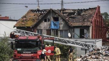 Edificio incendiado en Bilbao