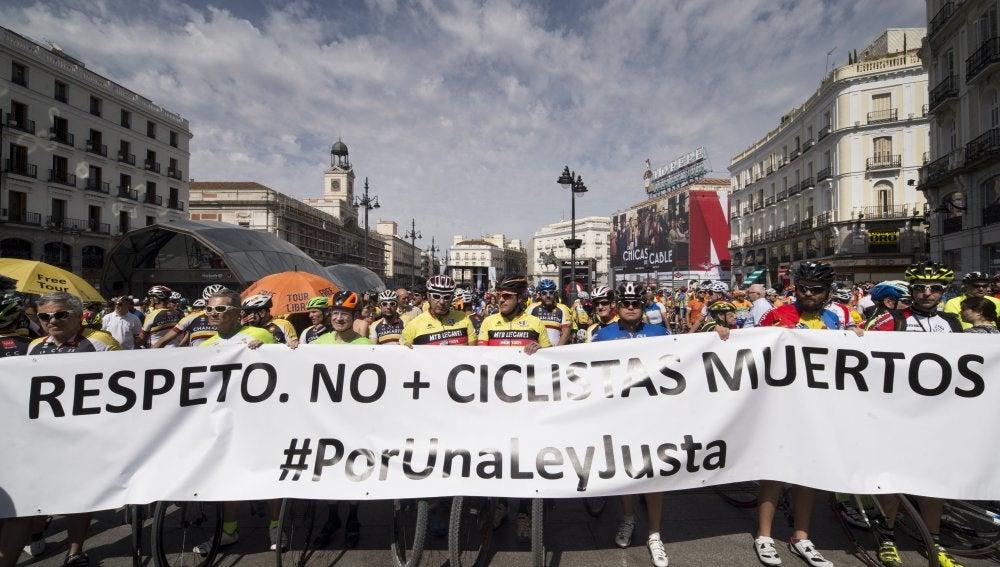 Vista de la concentración convocada en la madrileña Puerta del Sol