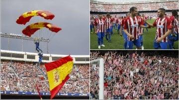Fiesta colchonera en el Vicente Calderón en el partido de despedida al estadio rojiblanco